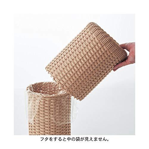インナーボックスに袋をセットして、上からカバーをかぶせる仕様なので、ゴミ袋が外側に見えないのが特徴。生活感を抑えてくれるつくりなので、インテリアにもぴったりです。