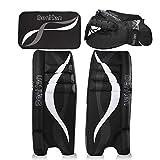 BenKen Sports Hockey Gear Goalie Pad Pack Ice Hockey Equipment Teenager &Adult Blue Black (Black 24')