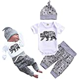 Toddler Baby Boy Letters Printed Tops Pants...