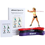 Resistance Bands Set of 3 Exercise Bands for Fitness and Strength Training | Free Workout Guide with 30 Key Exercises for Strength and Power | High Quality Latex Resistance Loops Ideal for Physio, Yoga, Pilates and Crossfit | Three Resistance Levels Suitable for Women or Men | Exercise Booklet Designed by Fitness Professionals