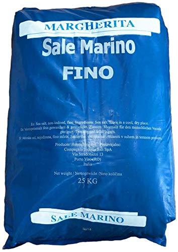 well2wellness Sale Marino Meersalz Natursalz ohne Zusätze - Feines Natursalz für Schwimmbäder und Beauty Anwendungen im 25kg Sack