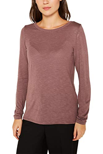 Esprit 119EE1K009 Camiseta de Manga Larga, Violeta (Dark Mauve 540), S para Mujer