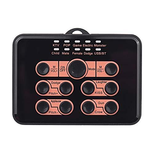 Tarjeta de sonido universal multifuncional Cambiador de voz 8 efectos de sonido para teléfono móvil y computadora