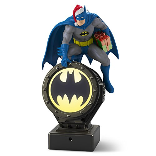 Hallmark Keepsake Christmas Ornament 2018 Year Dated, DC Comics Batman Peekbuster With Motion-Activated Sound