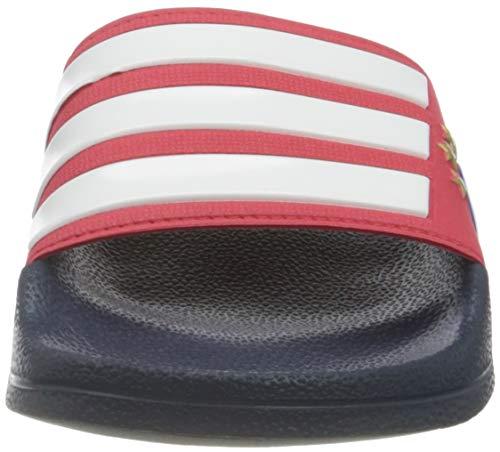 adidas Adilette Shower, Zapatillas de Gimnasio Hombre, Red/FTWR White/Collegiate Navy, 46 EU
