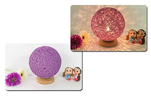 LED Mood Light, Twin-gevlochten lampenkap, puur natuurlijk materiaal LED-licht, cadeau voor geliefden, ouders, vrienden