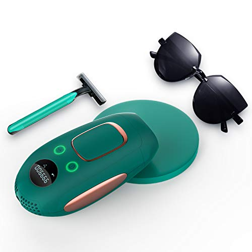 IPL Hair Removal Device, Permanent Painless Laser Hair Removal System, Upgrade to 999,900 Flashes, at-Home Hair Remover for Women Whole Body Use