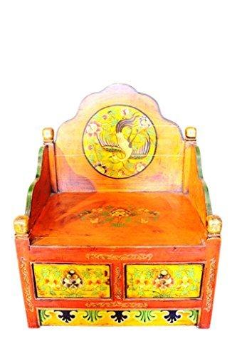 Antique tibet altarbank env. 90 ans avec 2 tiroirs