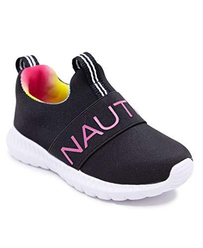 Nautica Kids Girls Boys Fashion Sneaker Slip-On Athletic Running Shoe for Toddler and Little Kids-Mattoon-Black Tie Dye-7