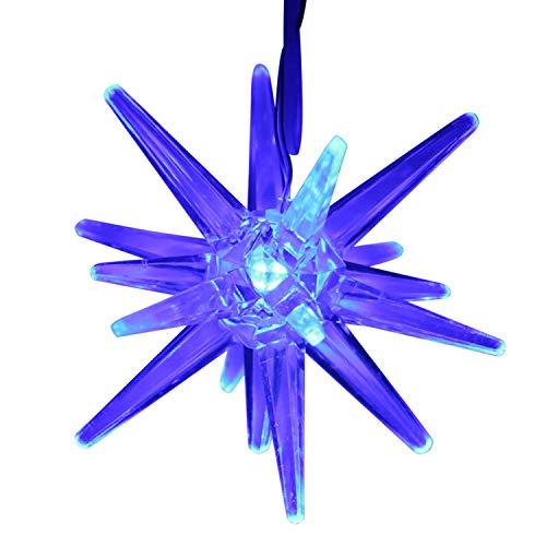 Land-Haus-Shop LED Weihnachtsstern batteriebetrieben, Licht Weihnachts Deko Fenster LED Stern Acryl (Blau)