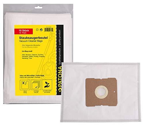 PATONA 10x Bolsas de Aspiradora Compatible con Solac 407 860