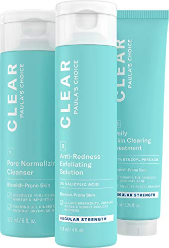 Paula's Choice CLEAR Regular Strength Acne Kit, 2% Salicylic Acid &...