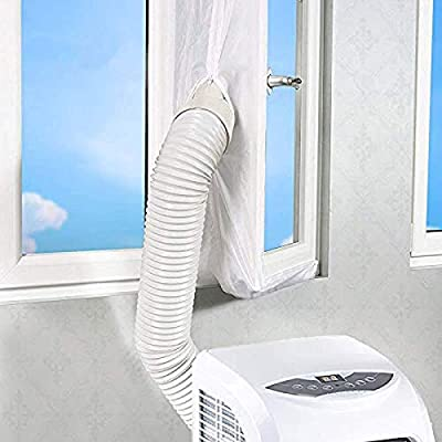 xiaoyi 300CM/ 400CM/560CM Universal Window Seal for Portable Air Conditioner And Tumble Dryer,Works with Every Mobile Air-Conditioning Unit, Air Exchange Guards With Zip and Hook Tape (300CM)