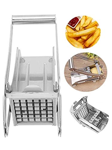 French Fries Slicer Potato Chipper Chip Cutter Chopper Maker, Pomme de terre Chipper Chip Cutter, Acier inoxydable, Durable