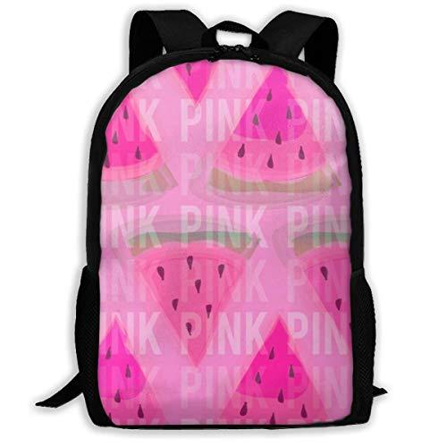 Lawenp Pink Watermelon Backpack School Bag, 3D Print Lightweight Bookbag Travel Daypack for Boys & Girls