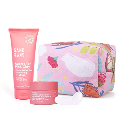 Sand & Sky Pore Fighters Kit. Maschera all'argilla Rosa Australiana