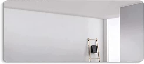 WECDS spiegel muur decor Frameloze gewatteerde badkamer spiegels, 50X70CM grote muur spiegel rechthoek make-up spiegel HD ...