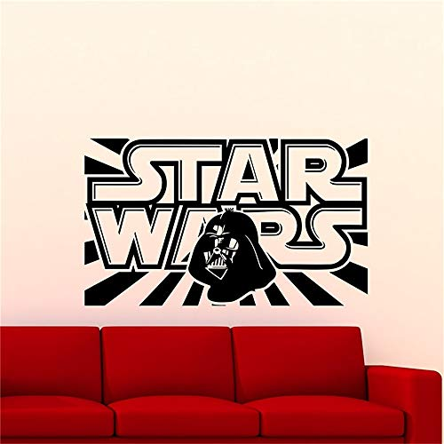 Sticker Star Wars Logo Decalcomanie Da Muro Darth Vader Quote Adesivo In Vinile Adesivo Da Parete Per Cameretta Per Ragazzi