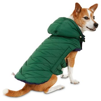 Good2Go Green Quilted Dog Parka~X-Large~