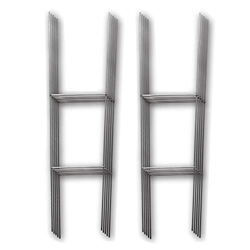 10 Quantity H-Stakes for Garage Sale, Political, Charity tournaments, and Graduations'H' Frame Wire Stakes - Yard Sign Stake - Use with 4mm Corrugated Signs