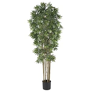Nearly Natural Bamboo Japanica Silk, 6-Feet Artificial Trees, 6′