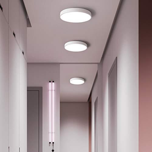 NEWSEE LED Deckenleuchte Sternenhimmel Deckenlampe Warmweiß Rund Modern Badezimmer Lights Schlafzimmer Küche Lampen Wohnzimmerlampe Kinderzimmer Lampe Balkon Licht IP20 (Weiß 30cm 18W 4500K)