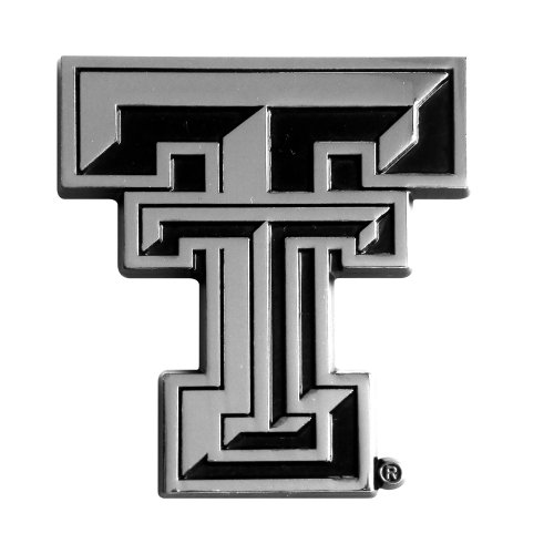 FANMATS 14899 NCAA Texas Tech University Red Raiders Chrome Team Emblem,2.7'x3.2'