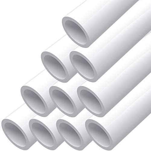 letsFix PVC Pipe 3/4' Schedule 40 Furniture Grade and Plumbing Projects Available, No Mark, No Logo, White [40' x 10 Pack]