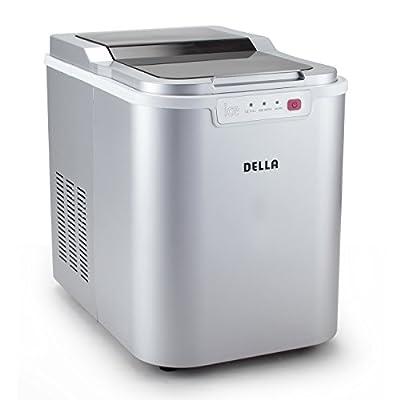 Della© Electric Ice Maker Machine Counter top Cube Easy-Touch Button, 3-Color