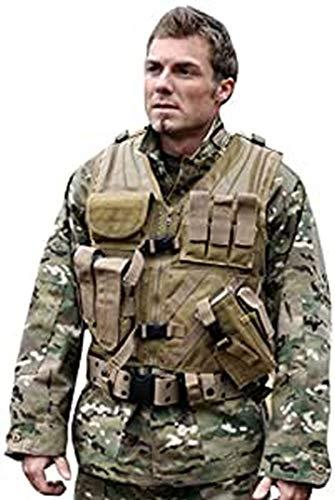 Mil-Tec Herren USMC mit Koppel Einsatzweste, Coyote, One Size