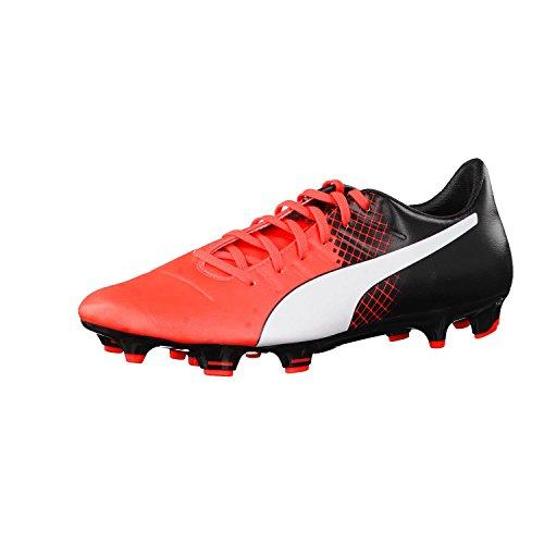 Puma Evopower 3.3 FG, Scarpa da Calcio Man (Football), Rosso (Red/Wht/Blk), 45 (10.5 UK)