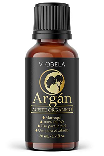 Aceite virgen de Argán ORGÁNICO 50ml 100% puro y natural, sin químicos añadidos, origen Marruecos, sin olor, extraído por presión en frío
