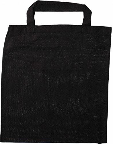 EQT-FASHION 8 x Jutebeutel Baumwolltasche Apothekertasche schwarz Einkaufstasche Geschäft Laden Großhandel
