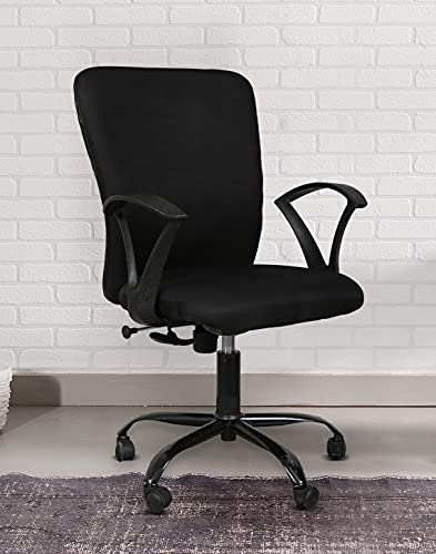 TIMBERCHEESE ZEENION Ergonomic CUSIONED Chair in Black with Upgraded Metal Base (Lifelong Warranty) (Full CUSION, with Warranty)