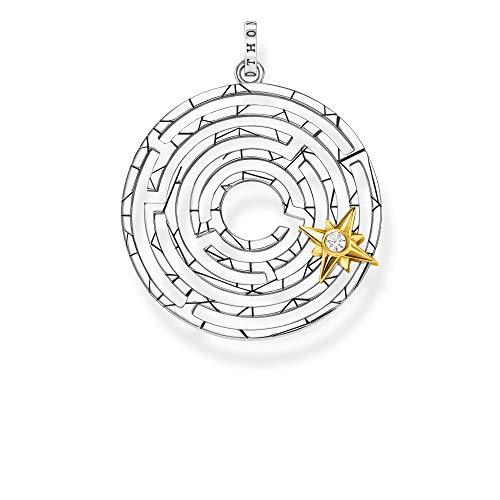 Thomas Sabo Damen-Anhänger Labyrinth mit goldenem Stern 925 Sterlingsilber gelbgold vergoldet PE851-849-14