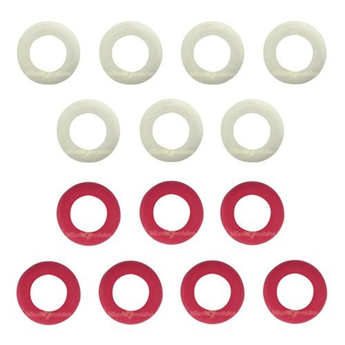Small Rubber Rings for Bumper Pool Table: 7 Red and 7 White by Billiard Evolution