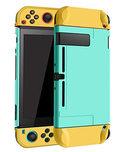 Boîtier Dockable pour Nintendo Switch Housse de protection de transport rigide Boîtier pour Nintendo Switch Console Joy Con Controller Vert Mixte Jaune