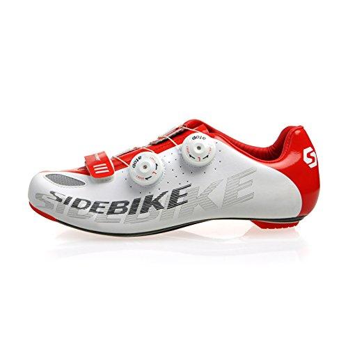 Sidebike Männer und Frauen Rennrad Rennrad Fahrradschuhe/Fahrrad Schuhe mit Kohlenstoff-Materialien, Größe 41 Fuß Länge 260mm Breite Größe 87.16mm