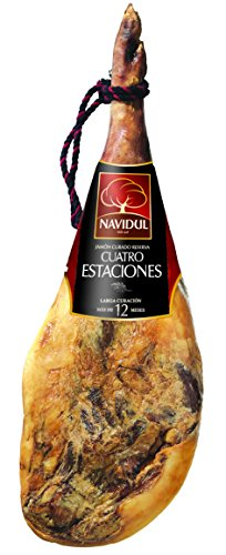 Navidul - Jamón Reserva Cuatro Estaciones + Jamonero + Cuchillo (7,2- 8,2Kg)