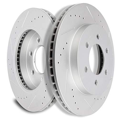 SCITOO Brakes Rotors 2pcs Front Discs Brakes Kit...
