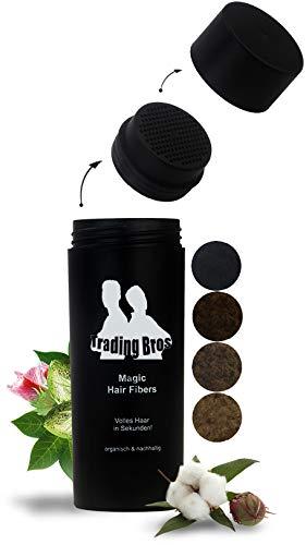 XXL Premium Streuhaar Schütthaar Haarverdichtung Trading Bros Magic Hair Fibers Dunkelbraun 28g