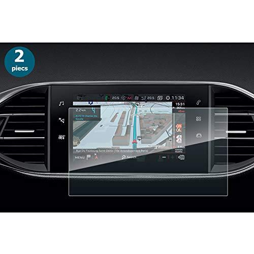 (2 Piezas) YEEPIN Peugeot 308 SW / 308 GTI i-Cockpit Protector de Pantalla de película Invisible para navegación de 9.7 Pulgadas, HD Transparente