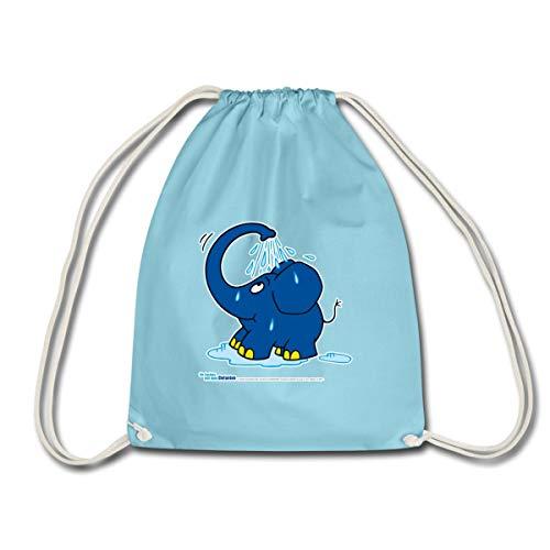 Spreadshirt Sendung Mit Der Maus Kleiner Elefant Dusche Turnbeutel, Aqua