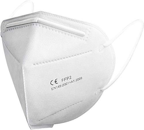 FFP2 Maske CE Zertifiziert - SOYES 20 Stück KN95 Maske - 4-lagige FFP2 Mundschutzmasken - FFP2 Atemschutzmaske Masken Gesichtsmaske EN 149 Staubschutzmaske Weiß