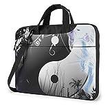 Bolsa de hombro para ordenador portátil Yin Yang Gatos bolsa de ordenador portátil bolsa de hombro Messenger maletín 13/14/15.6 pulgadas