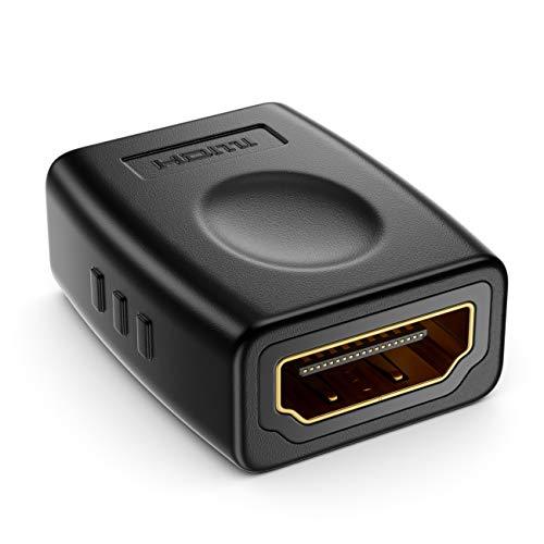 deleyCON 1x HDMI Adapter Kupplung Verbinder - Standard-HDMI Buchsen Typ A - 4K Ultra HD UHD 3D Full HD 1080p HDR ARC Highspeed mit Ethernet
