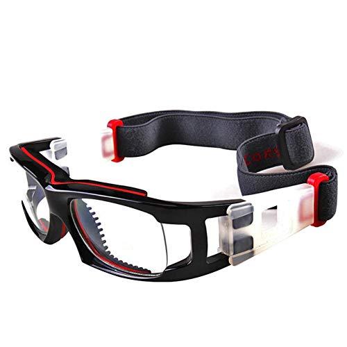 RecoverLOVE Basketball Sportbrillen Persönlichkeit Schutzbrillen Sport Explosionsgeschützte Brille mit verstellbaren elastischen Wrap Strap für Fußball Motorrad Outdoor Sports