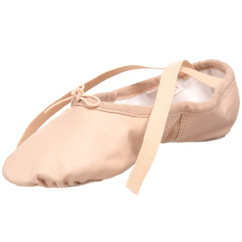 SANSHA Silhouette Leather Ballet Slipper,Pink,8 M US Women
