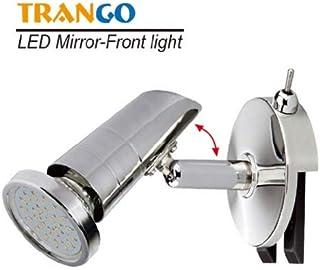 Trango LED Luz de espejo TG2248 I lámpara de baño I luz de baño con interruptor de encendido / apagado incluido 1x GU10 bombilla LED