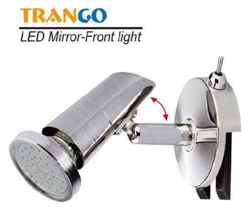 Trango LED Spiegelleuchte TG2248 I Bad Lampe I Badleuchte mit ON/OFF Schalter inkl. 1x GU10 LED Leuchtmittel